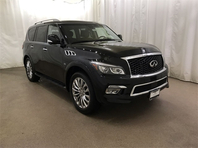 Certified Pre-Owned 2017 INFINITI QX80 4WD w/ Driver Assist and DVDs